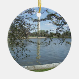 The Washington Monument in Spring Ornament