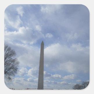 The Washington Monument Square Stickers
