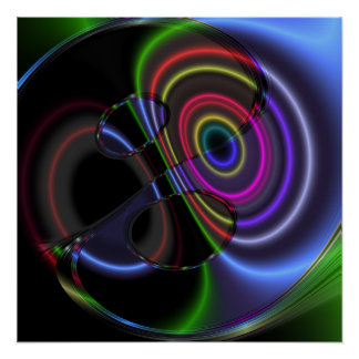 The Watcher Abstract Art Poster