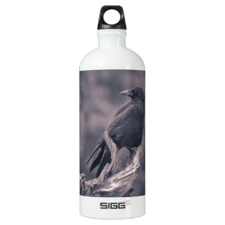 The watching Crow Water Bottle