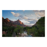 The Watchman at Zion NP Poster