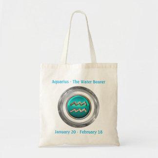 The Water Bearer - Aquarius Horoscope Sign Tote Bag