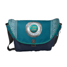 The Water Bearer - Aquarius Zodiac Sign Messenger Bag