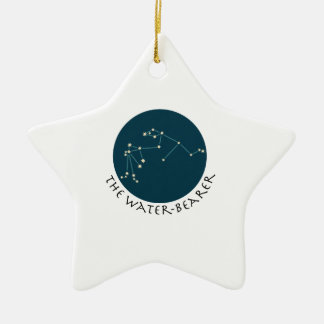 The water bearer Double-Sided star ceramic christmas ornament