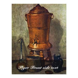 """The Water By Chardin Jean-Baptiste Siméon (Best Qu 8.5"""" X 11"""" Flyer"""