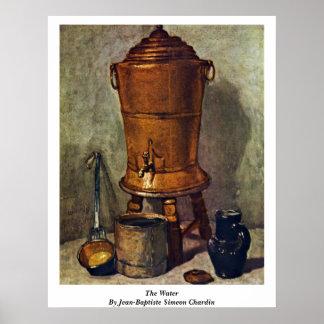 The Water By Jean-Baptiste Simeon Chardin Poster