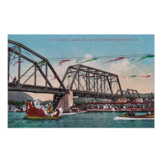 The Water Carnival and Northwestern Pacific RR Poster