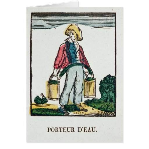The Water Carrier Greeting Cards