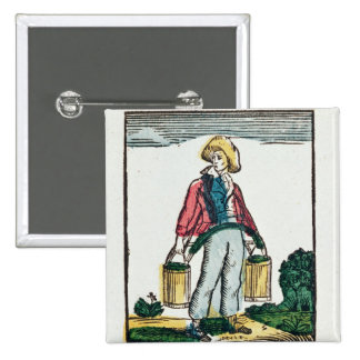 The Water Carrier Pinback Button
