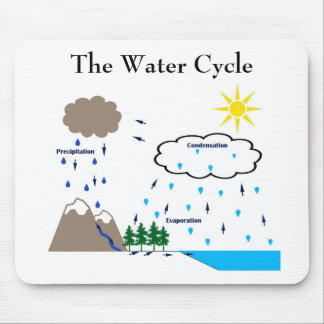 The water cycle mousepad
