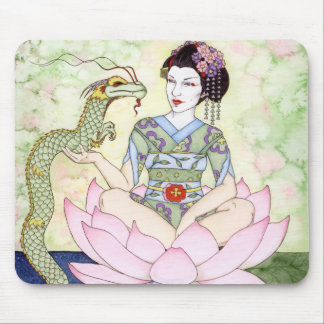The Water Dragon Geisha Mouse Pad