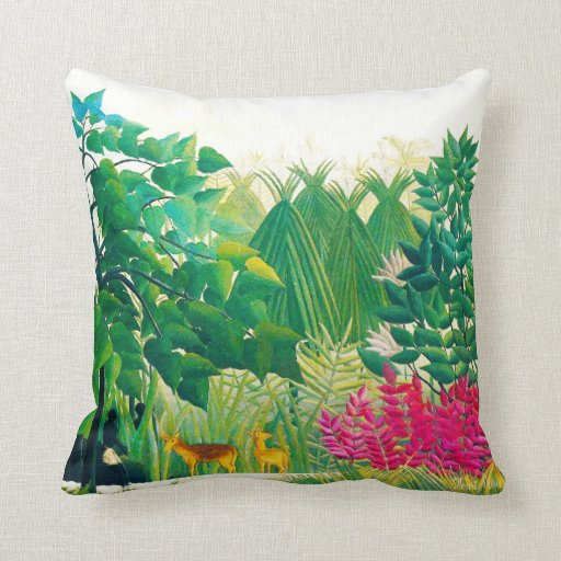 The Water Fall, by Henri Rousseau Pillow