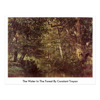 The Water In The Forest By Constant Troyon Postcard