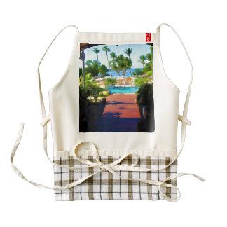 The water invites zazzle HEART apron