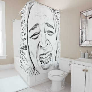 Crying Woman Face Funny Shower Curtain