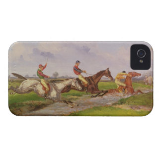 The Water Jump: the Autumn Steeplechase at Ballara iPhone 4 Case-Mate Cases