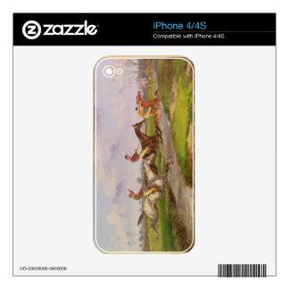 The Water Jump: the Autumn Steeplechase at Ballara iPhone 4 Skin