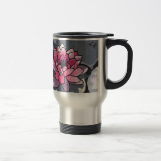 The Water Lily 15 Oz Stainless Steel Travel Mug