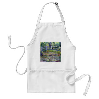 The Water Lily Pond by Claude Monet Adult Apron