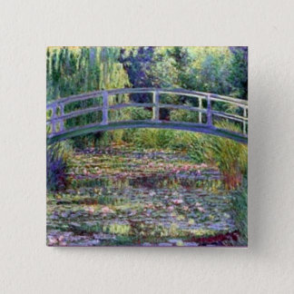 The Water Lily Pond by Claude Monet Button