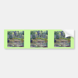 The Water Lily Pond by Claude Monet Car Bumper Sticker