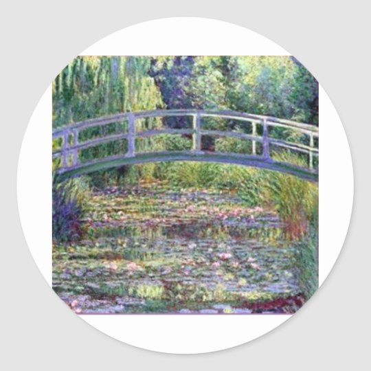 The Water Lily Pond by Claude Monet Classic Round Sticker