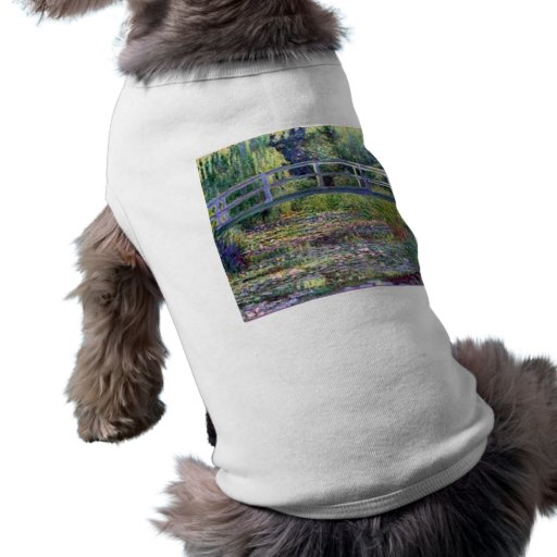 The Water Lily Pond by Claude Monet Dog T-shirt