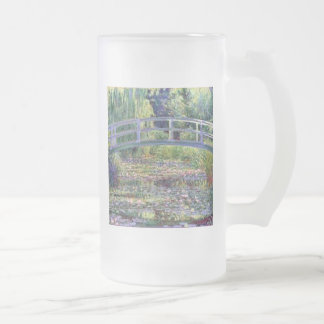 The Water Lily Pond by Claude Monet Frosted Glass Beer Mug