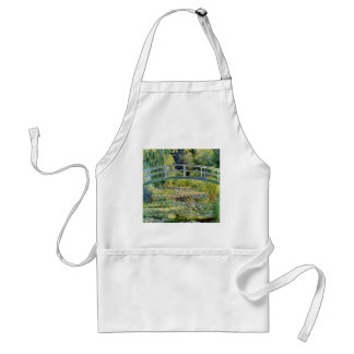 The Water-Lily Pond by Monet Fine Art Adult Apron