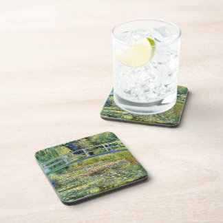 The Water-Lily Pond by Monet Fine Art Beverage Coaster