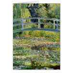 The Water-Lily Pond by Monet Fine Art Greeting Card