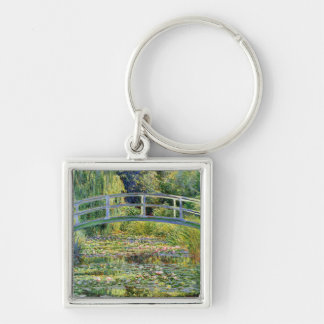 The Water-Lily Pond by Monet Fine Art Keychain