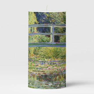 The Water-Lily Pond by Monet Fine Art Pillar Candle