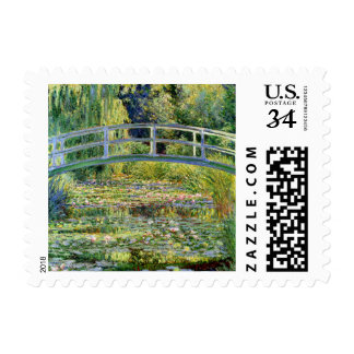 The Water-Lily Pond by Monet Fine Art Stamp