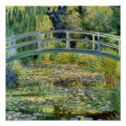 The Water-Lily Pond by Monet Fine Art Poster