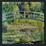 """The Water-Lily Pond by Monet Fine Art Poster<br><div class=""""desc"""">The Water-Lily Pond with Japanese footbridge,   popular oil painting by French impressionist artist Claude Monet - Giverny,  France 1899.  Fine art poster prints.</div>"""