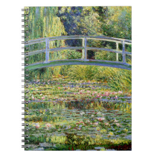 The Water-Lily Pond by Monet Fine Art Spiral Notebook