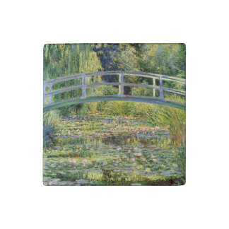 The Water-Lily Pond by Monet Fine Art Stone Magnet