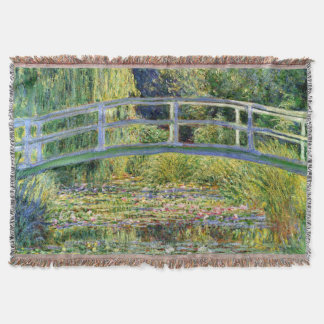 The Water-Lily Pond by Monet Fine Art Throw