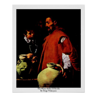 The Water Seller Of Seville By Diego Velázquez Poster