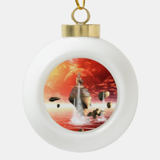 The water source ceramic ball christmas ornament