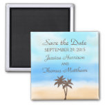 The Watercolor Beach Wedding Collection 2 Inch Square Magnet