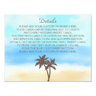 The Watercolor Beach Wedding Collection 4.25x5.5 Paper Invitation Card