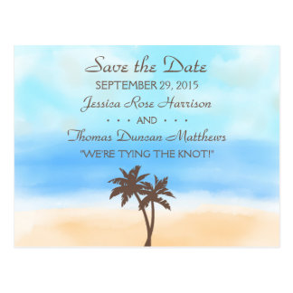 The Watercolor Beach Wedding Collection Postcard