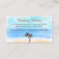 The Watercolor Beach Wedding Collection Website Enclosure Card
