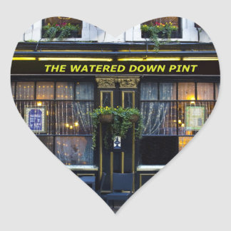 The Watered Down Pint Heart Sticker