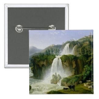 The Waterfall at Tivoli, 1785 Button