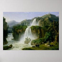 The Waterfall at Tivoli, 1785 Poster