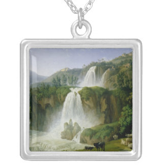 The Waterfall at Tivoli, 1785 Silver Plated Necklace
