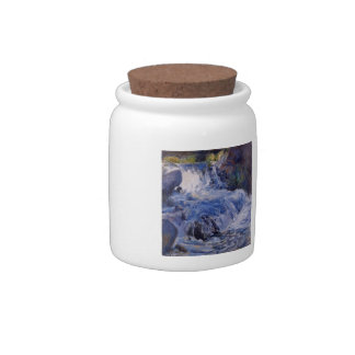 The Waterfall  by John Henry Twachtman Candy Jar
